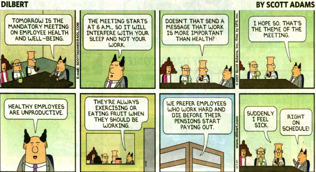leaders and employees comic