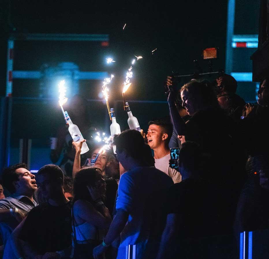 nightclub bottle service