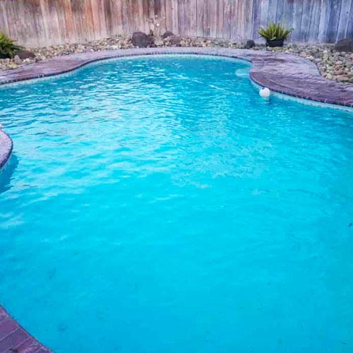 Pool of a happy customer in Merced, CA.