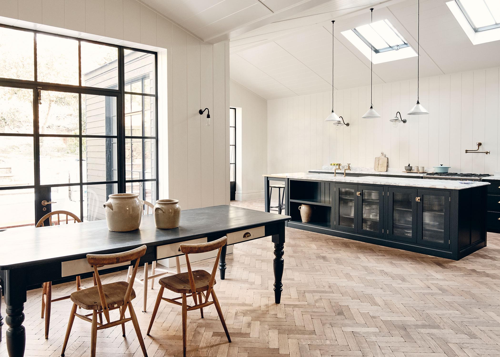 Mid-century modern kitchen design by Rock + Poppins