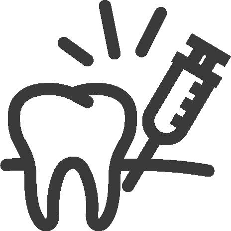tooth anesthesia icon