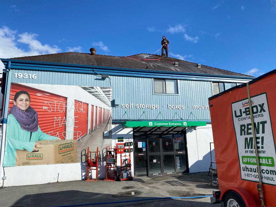 Roof Washing Hero Picture On Big Shot Pressure Washing Roof Washing Page