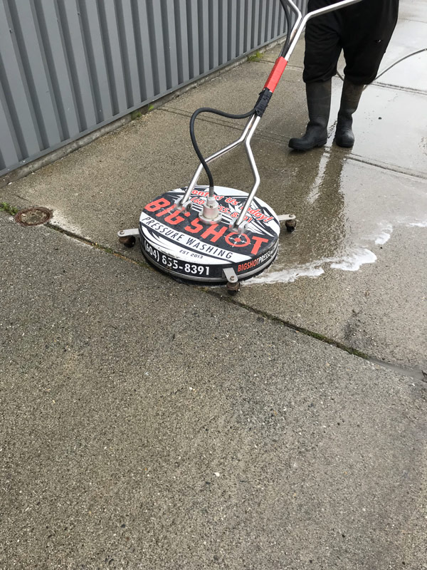 Hard Surface Commercial Washing Picture On Big Shot Pressure Washing Commercial Washing Page