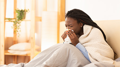 Sinus Problems, Young Woman at home