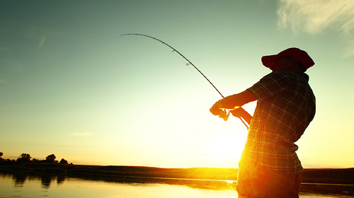 Man fishing after feeling sinus relief