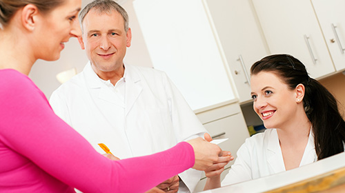 Patient scheduling appointment with office