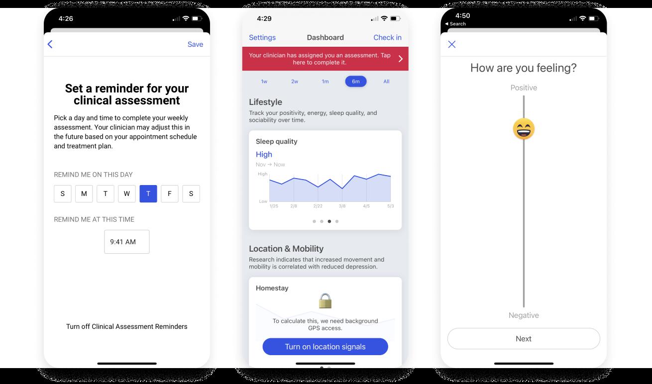 Blueprint mental health client app preview