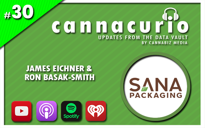 Cannacurio Podcast Episode 30 with James Eichner and Ron Basak-Smith of Sana Packaging