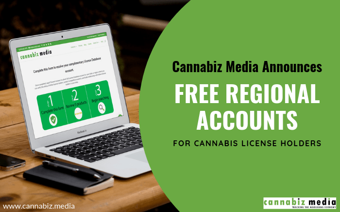 Cannabiz Media Announces Free Regional Subscriptions  for Cannabis License Holders