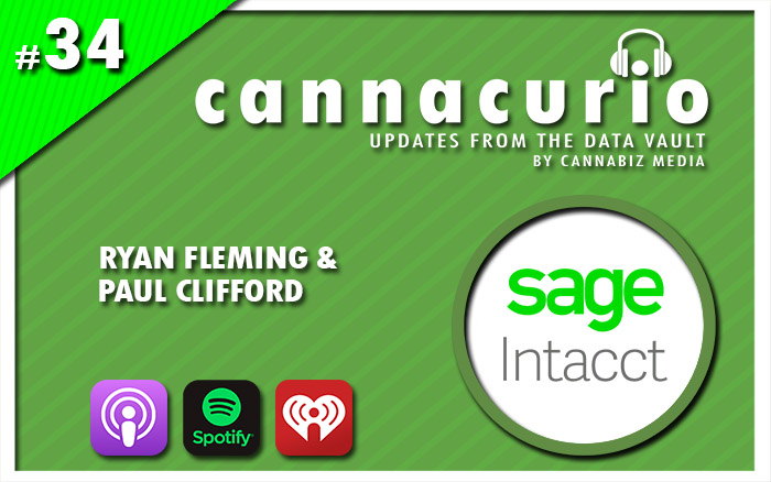 Cannacurio Podcast Episode 34 with Ryan Fleming and Paul Clifford of Sage Intacct