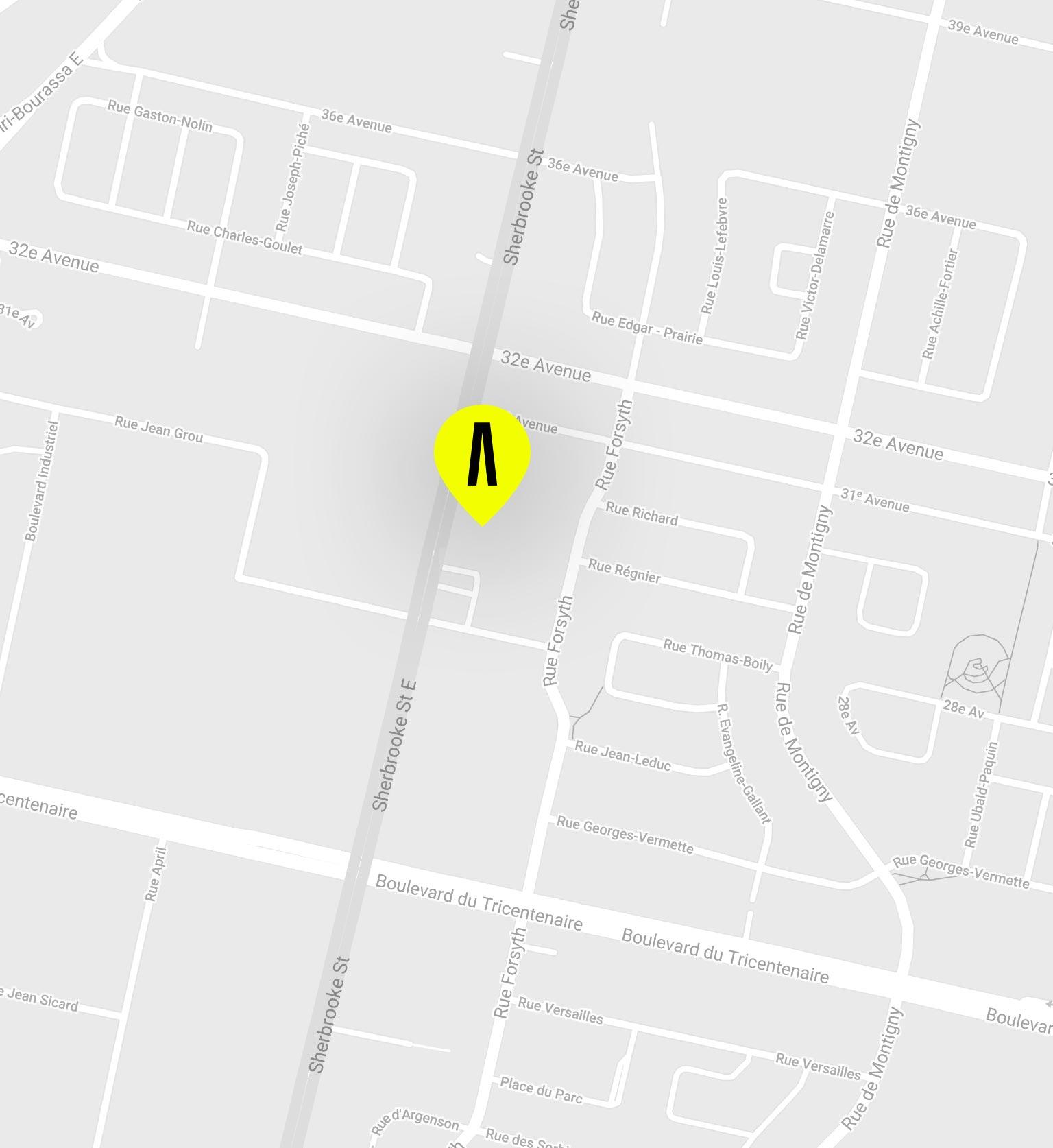 Map de Pointes-aux-Trembles