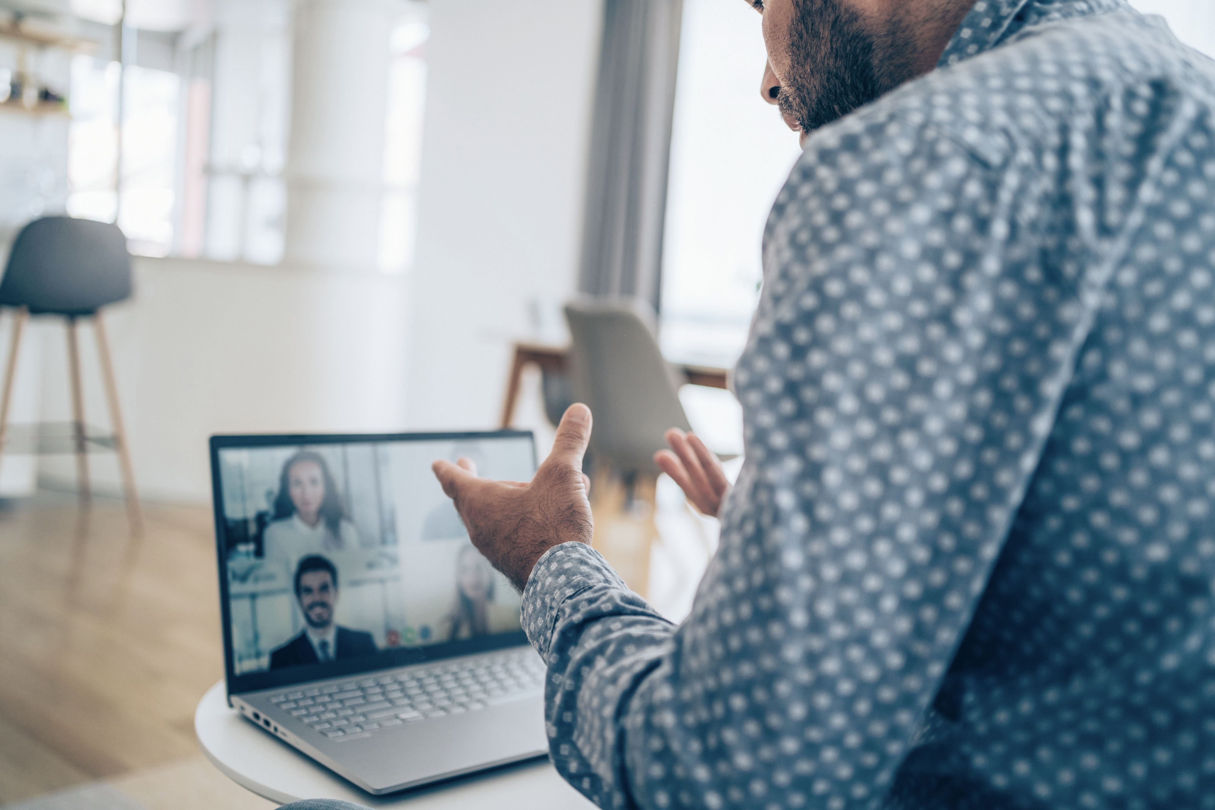Gentleman in a video call conference
