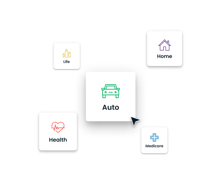 Select leads from various lines of insurance, such as auto, homeowners, Medicare, health, and life insurance.