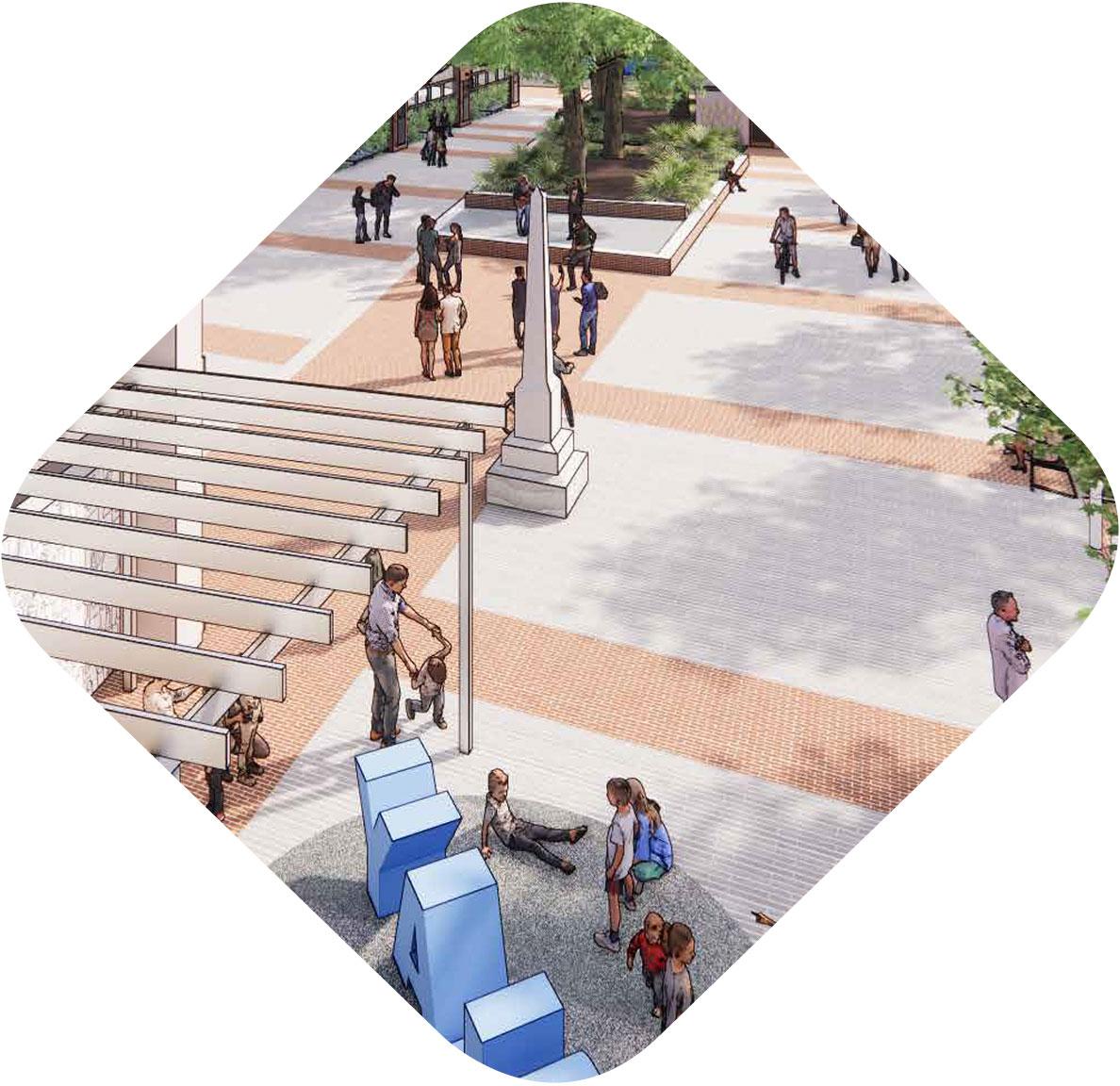 Hammond Urban Plaza Plans