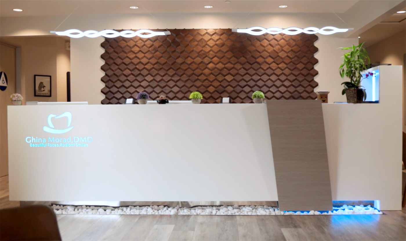 Our front desk/lobby space