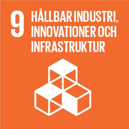 Ikon för globala målen nummer 9, Hållbar industri, innovationer och infrastruktur