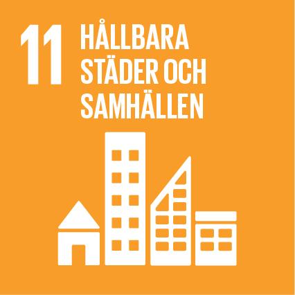 Ikon för globala målen nummer 11, Hållbara städer och samhällen