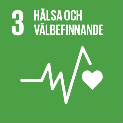 Ikon för globala målen nummer 3, Hälsa och välbefinnande