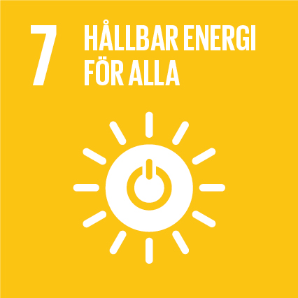 Ikon för globala målen nummer 7, Hållbar energi för alla