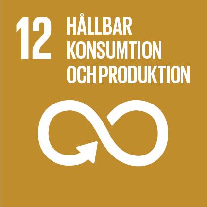 Ikon för globala målen nummer 12, Hållbar konsumtion och produktion