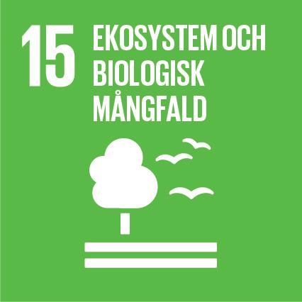 Ikon för globala målen nummer 15, Ekosystem och biologisk tillväxt