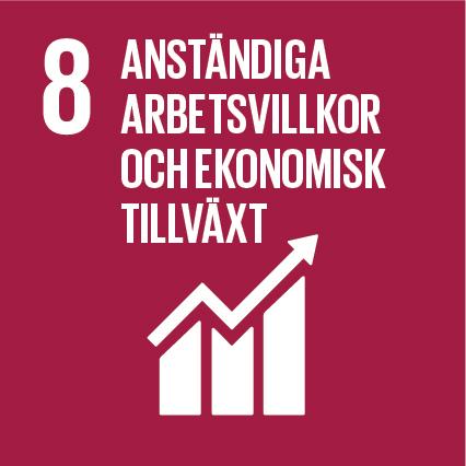 Ikon för globala målen nummer 8, Anständiga arbetsvillkor och ekonomisk tillväxt