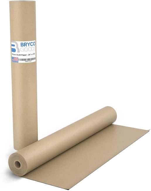 Brown Kraft Butcher Paper Roll | Long 24 Inch x 175 Feet (2100 Inch)