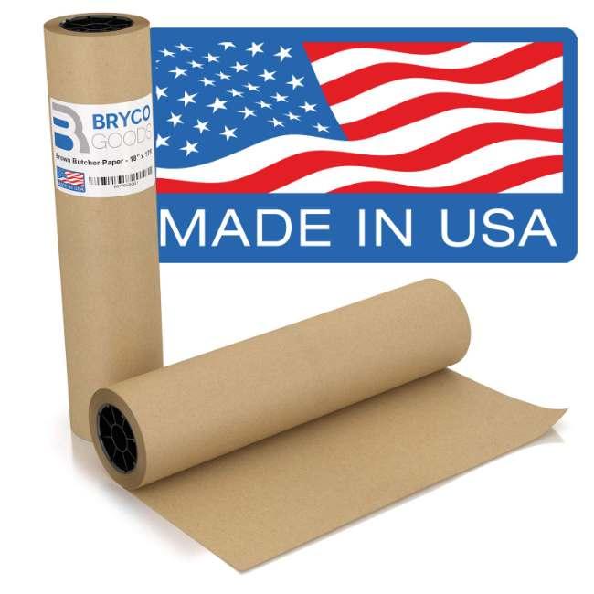 Brown Kraft Butcher Paper Roll | 18 Inch x 175 Feet (2100 Inch)