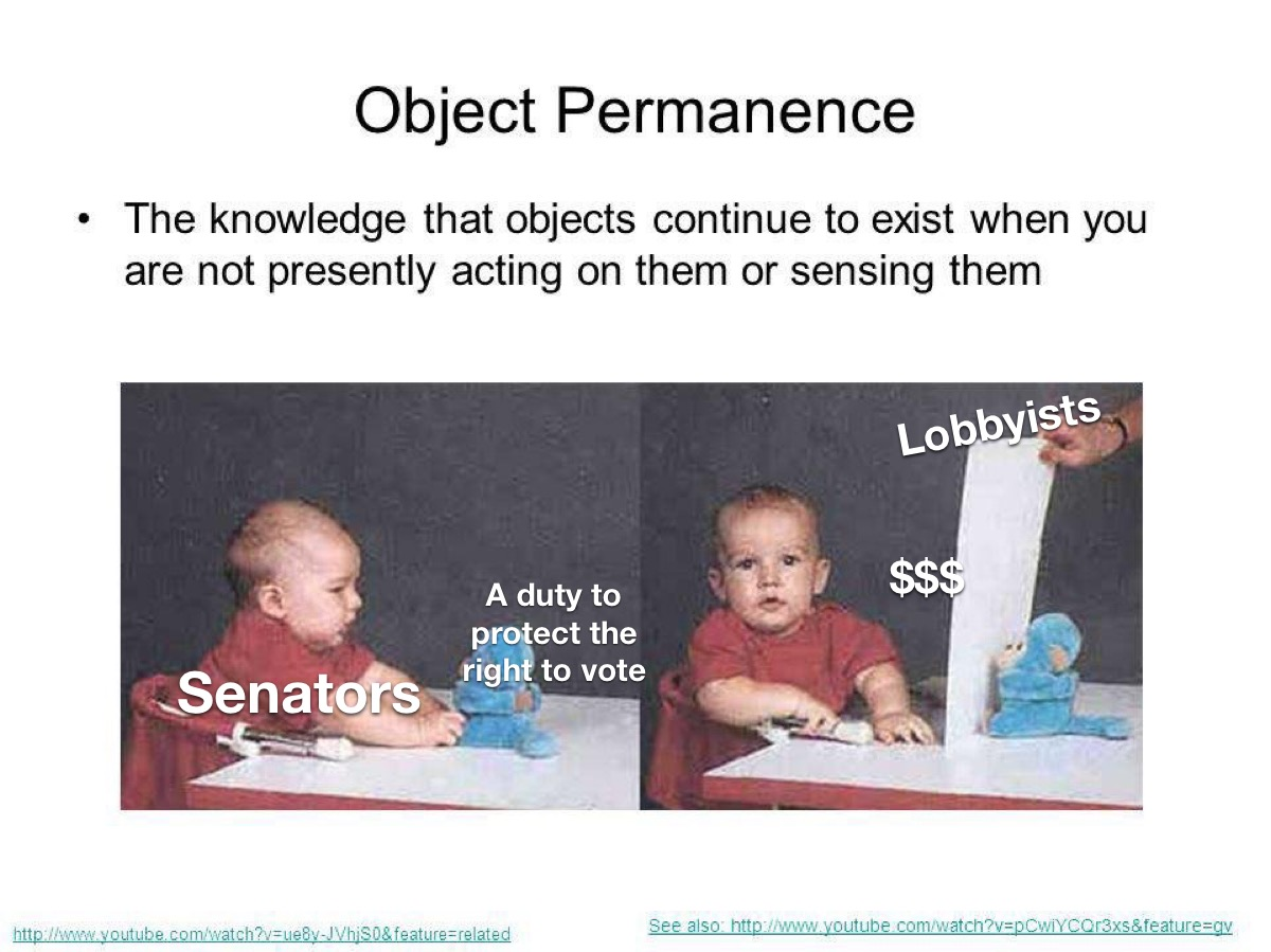 object permanence? were expecting a lot of those idiots