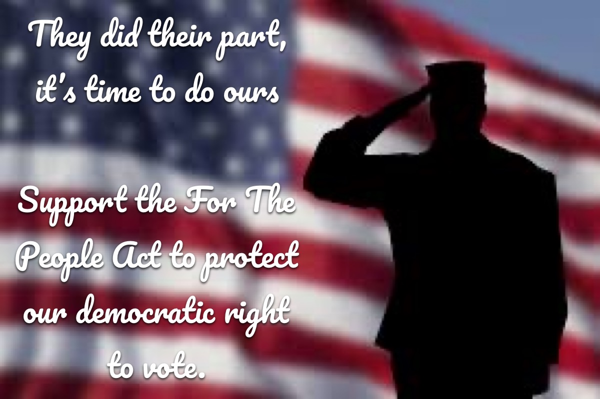 thank them for their service by voting
