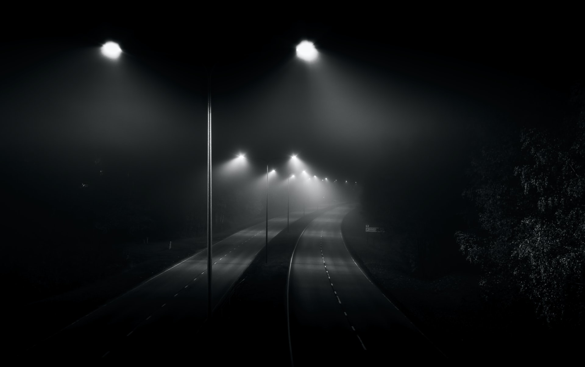 Foggy street at nighttime. Tools used to evaluate racial disparities in traffic stops.