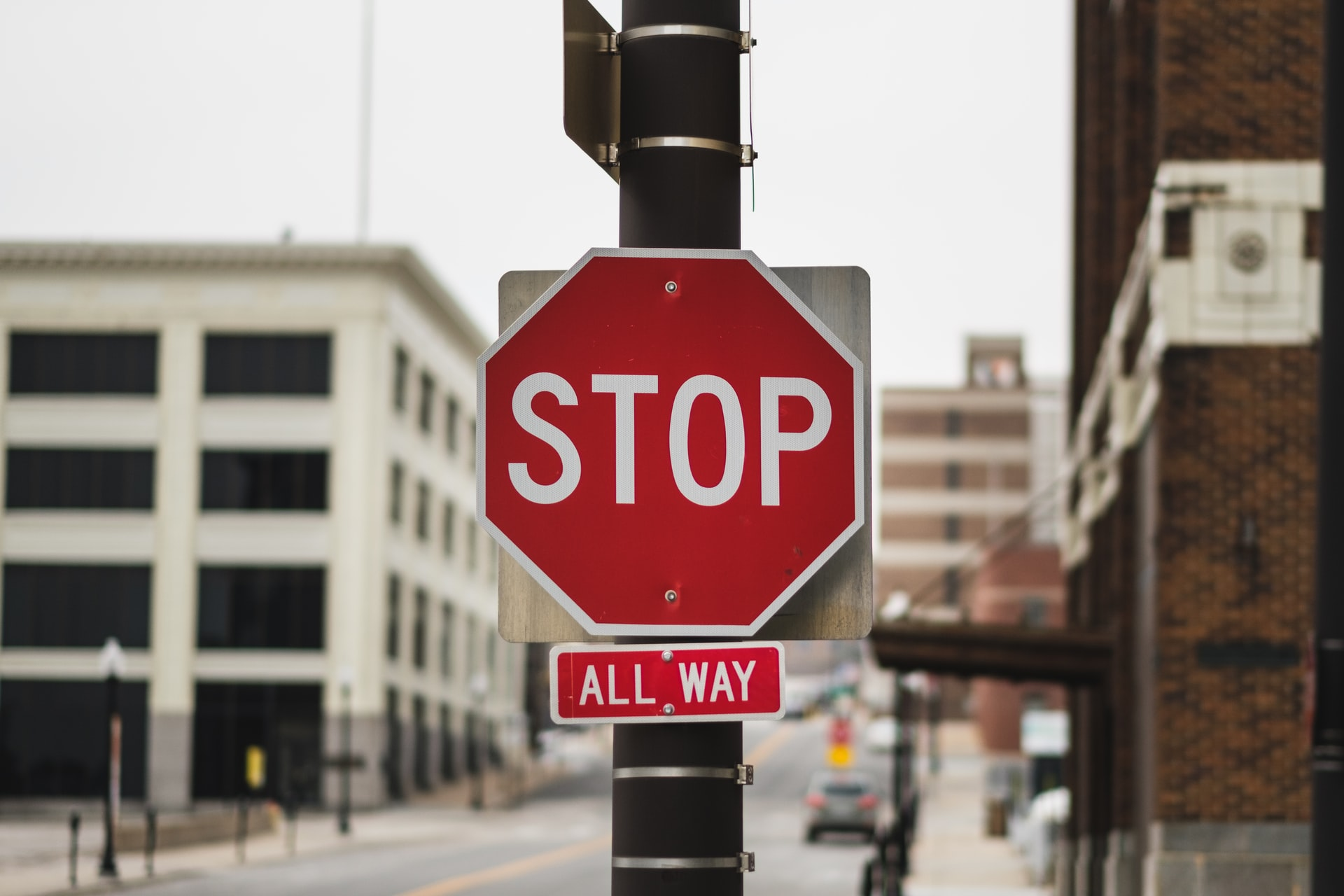 Stop sign on road, Connecticut Racial Profiling Prohibition Project