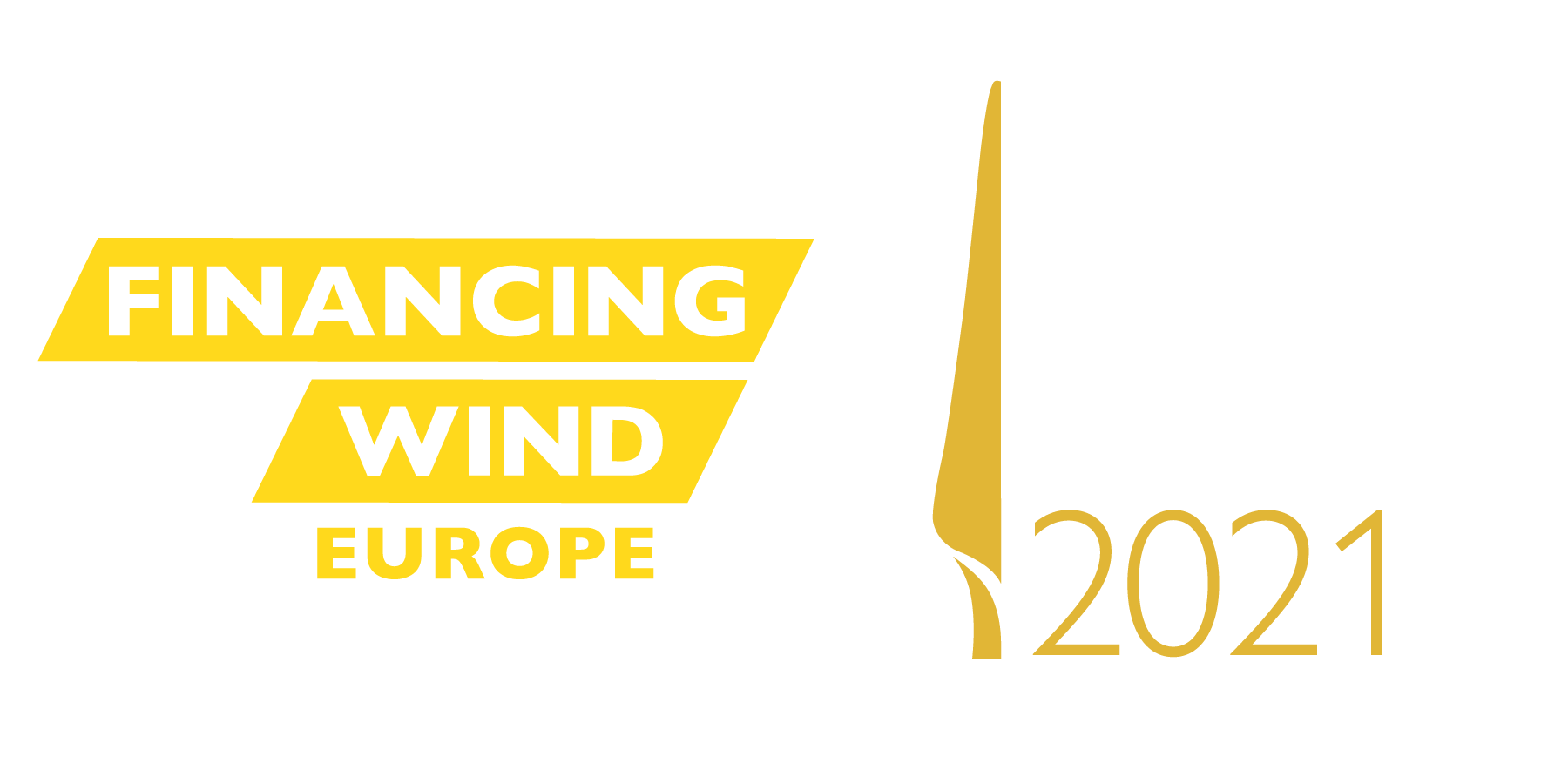 Logos for Financing Wind Europe and Wind Investment Awards 2021.