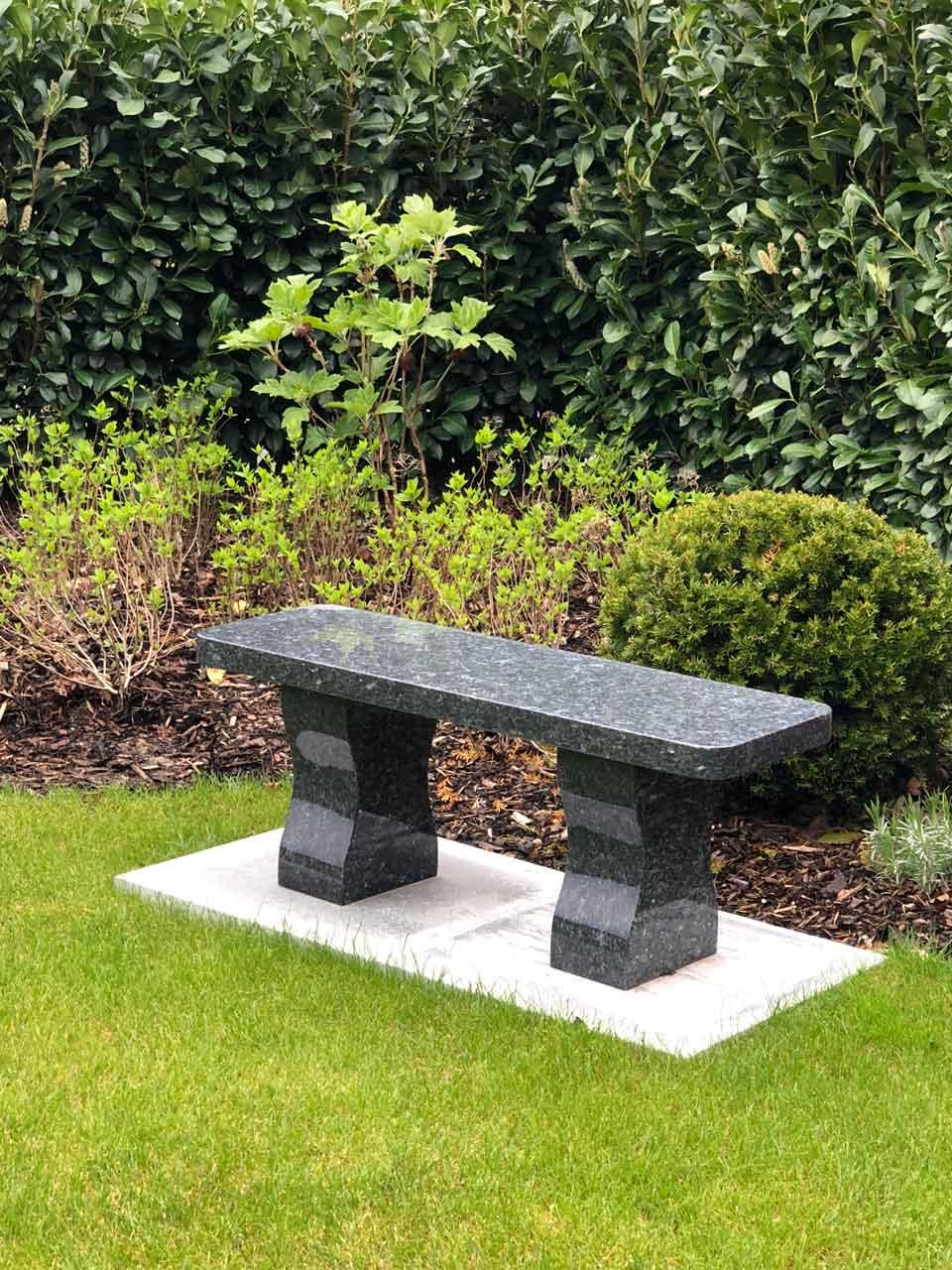 blue pearl memorial bench