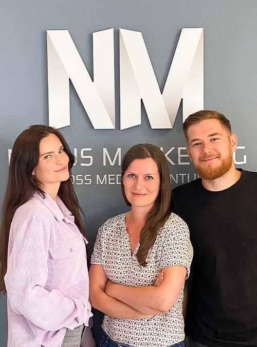 Henriette, Änne und Nick von Novus Marketing