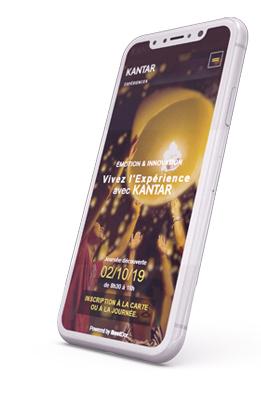 Site de l'évènement de Kantar, sur smartphone