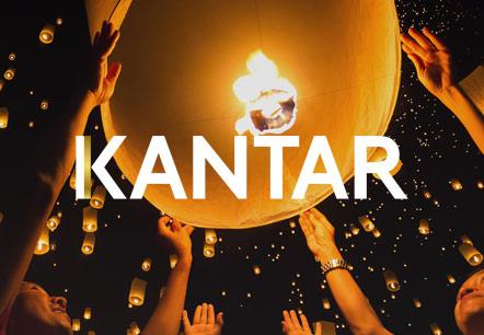 Exemple de site d'évènement pour Kantar