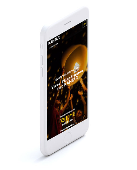 site évènementiel responsive sur smartphone
