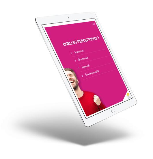 présentation d'étude Balmétrie sur tablette