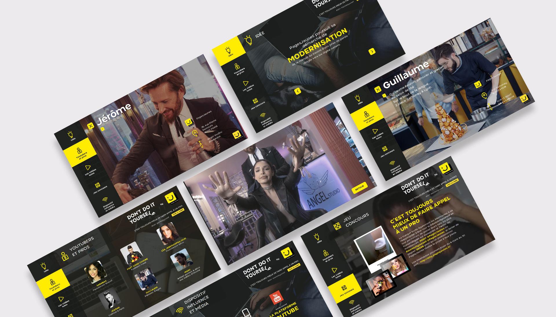 Exemple de teaser interactif pour les Pages Jaunes