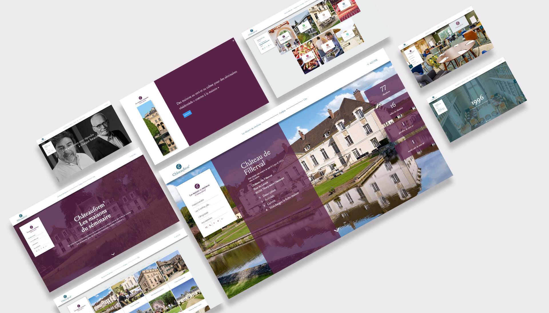 Catalogue produit interactif pour Chateauform