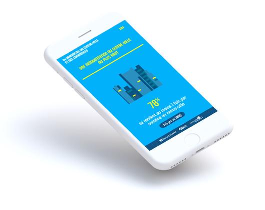 présentation interactive de l'étude de Clear Channel sur smartphone