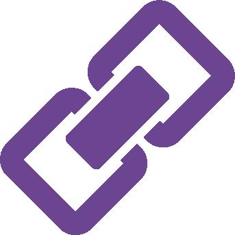 Purple Link Icon