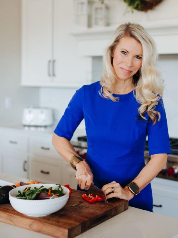 Julie preparing food