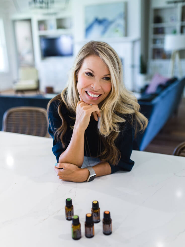 Julie with essential oils