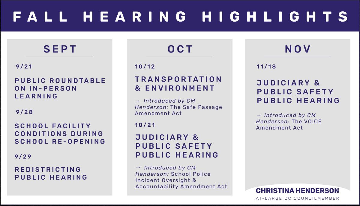 Fall Hearings