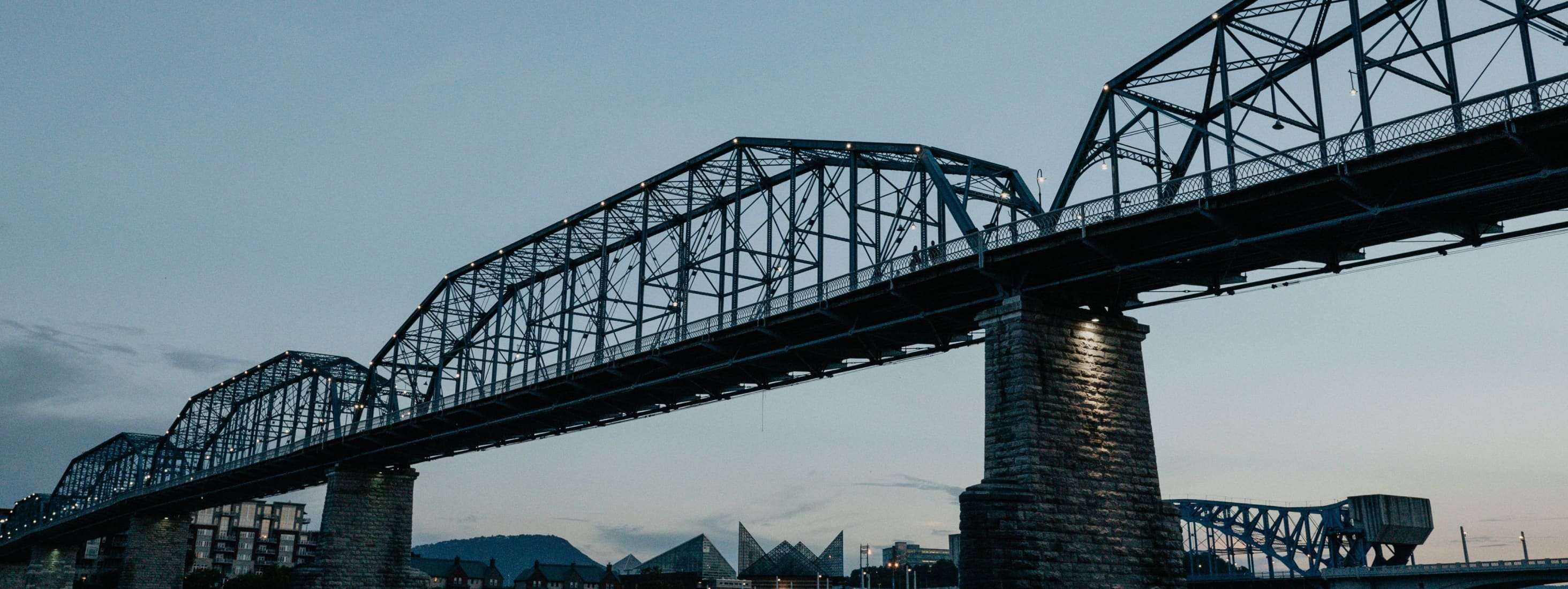An image of a bridge at downtown Chattanooga, TN