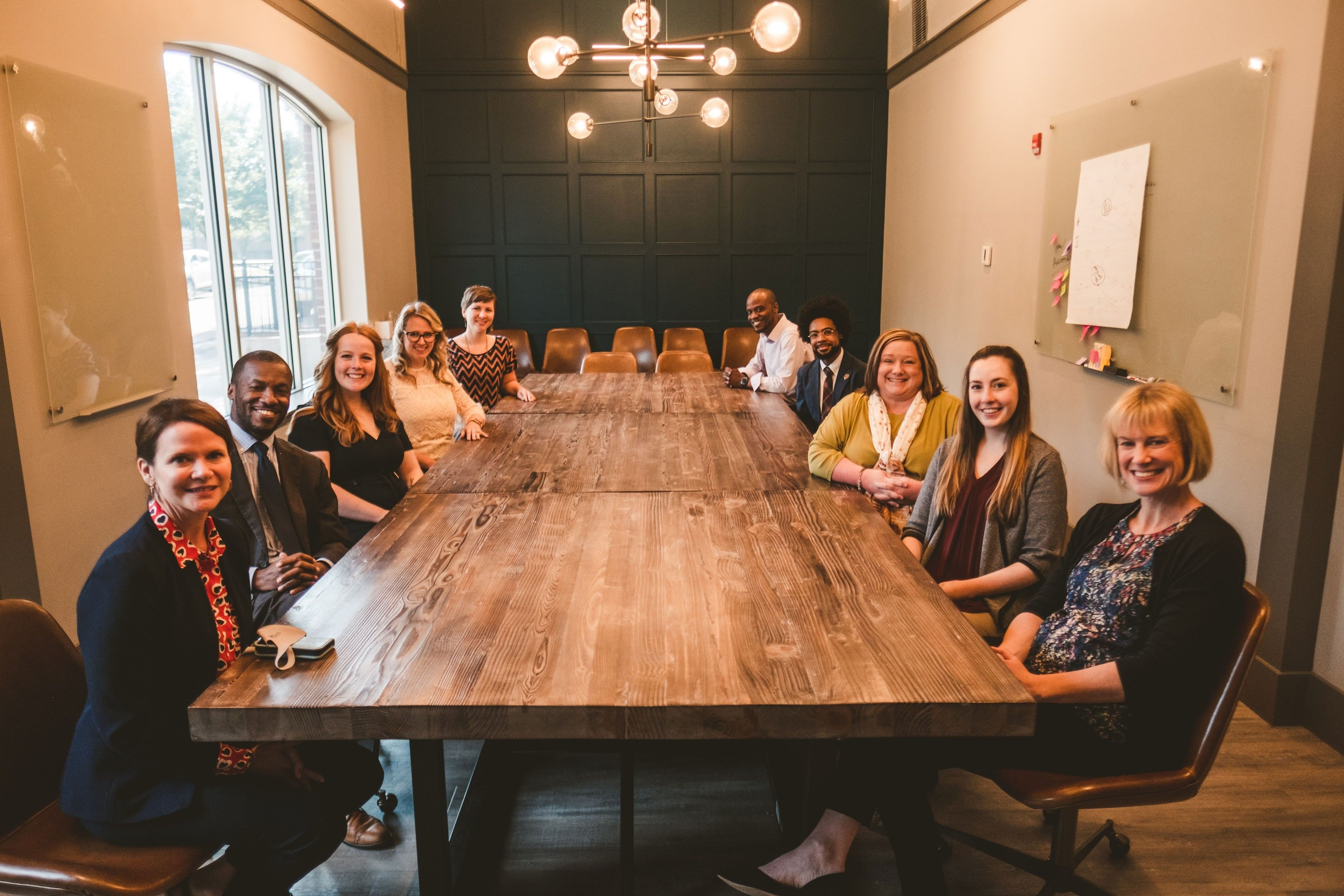 Wide Angle Shot of the CFGC staff in their conference room.