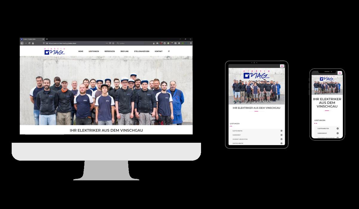 elektro mag gmbh mals vinschgau nextlevel handwerk webseiten fuer handwerker responsive webdesign seo handwerk experte