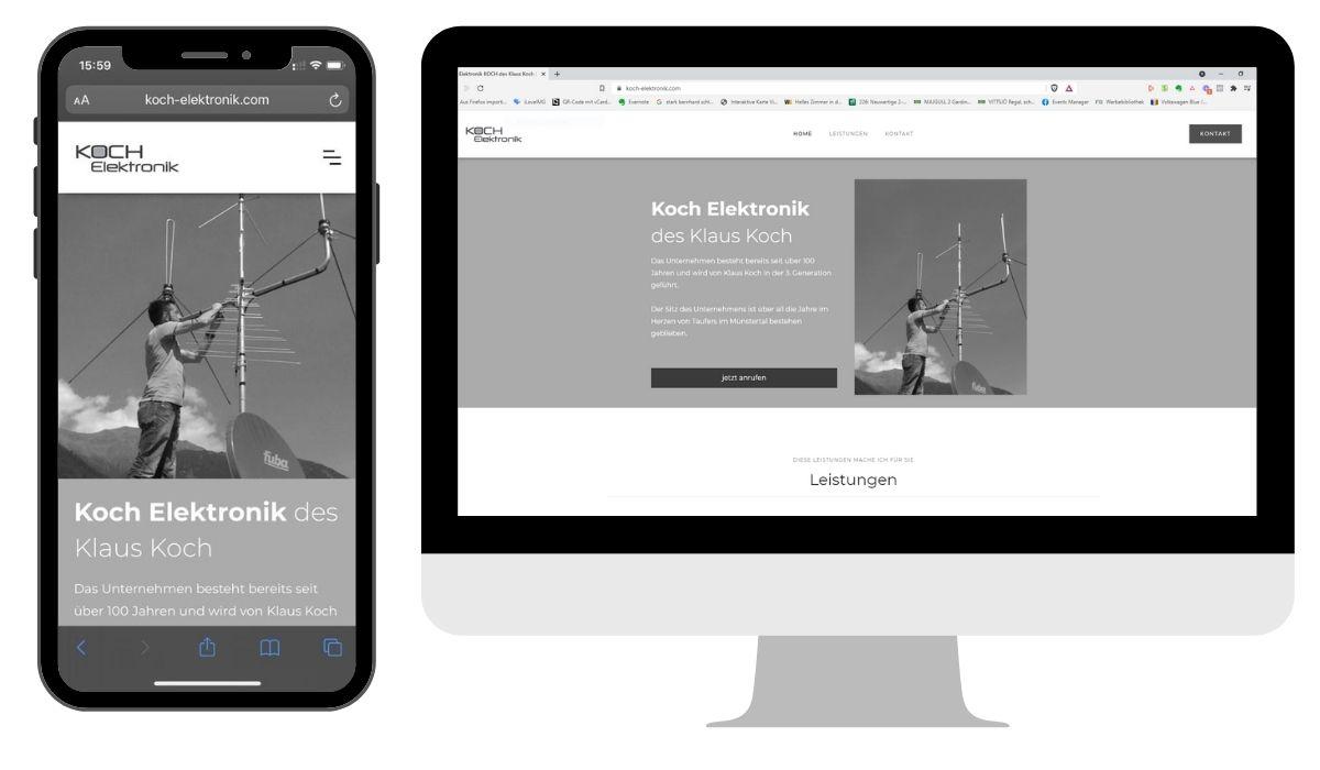 koch elektronik des klaus koch referenz stefan hoechenberger nextlevel handwerk webseiten für handwerker